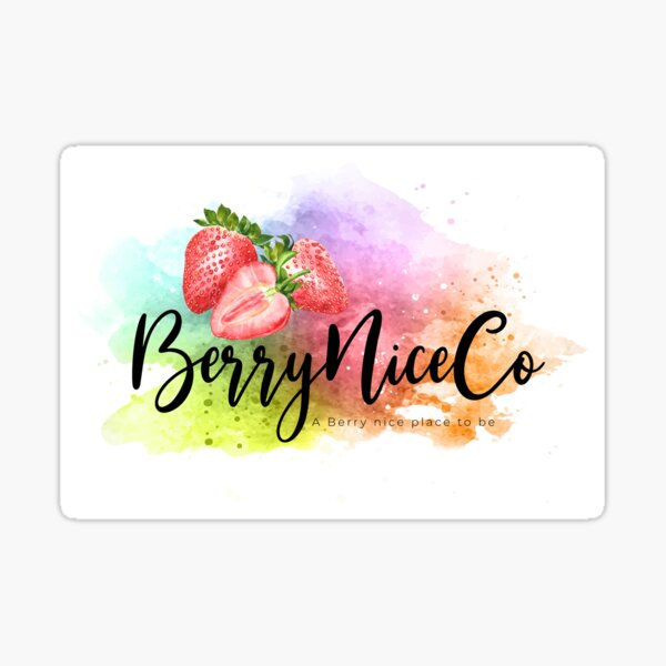 BerryNiceCo Logo Sticker