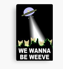 X-Files Cats Wanna Be Weeve Canvas Print