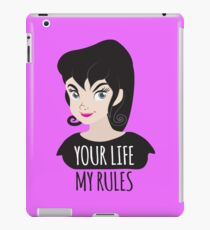 YOUR LIFE MY RULES awesome punk chick with black hair iPad Case/Skin