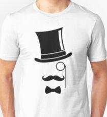 Mustache Monocle Top Hat  T-Shirt