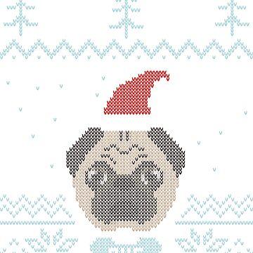 Ugly Christmas Sweater Pug Freeze by Compi