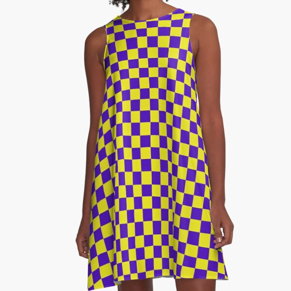 Pirate Purple and Gold A-Line Dress