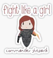 Fight Like a Girl - The Commander Sticker