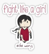 Fight Like a Girl - Zombie Killer Ninja Sticker