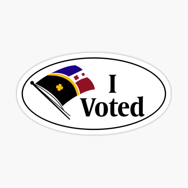 I Voted - L'Manberg Election Sticker