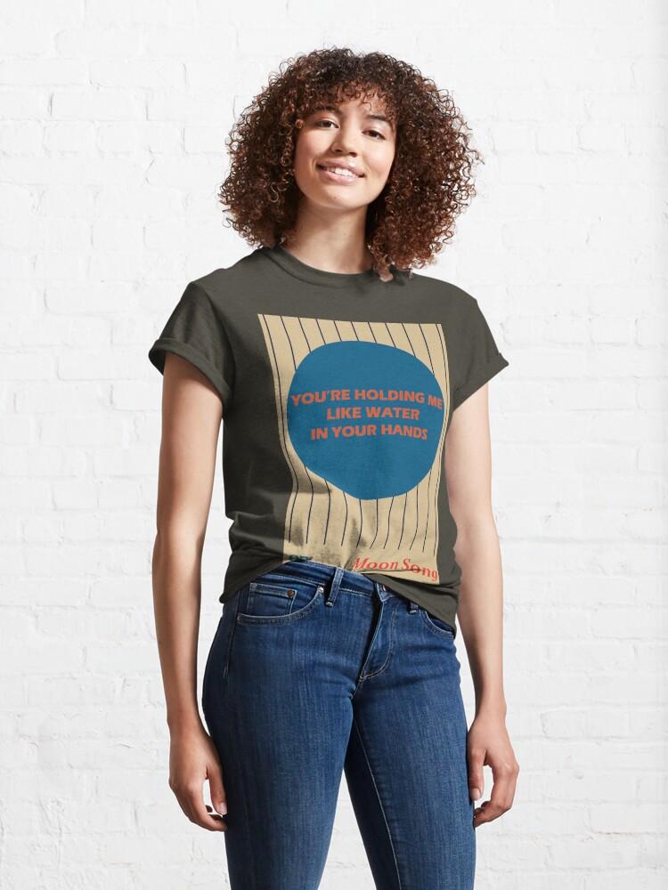 Alternate view of Phoebe Bridgers Moon Song lyrics Classic T-Shirt