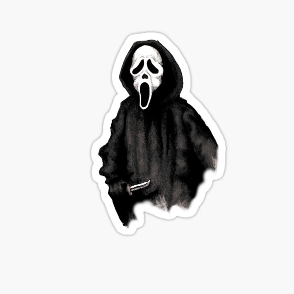 Ghost Face Sticker