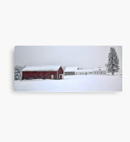 April 1st Blizzard - The Lindscott Farm Canvas Print