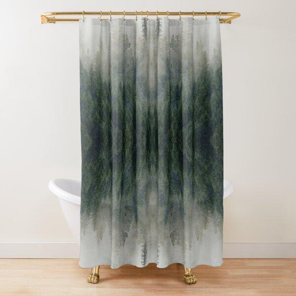 Forest Kaleidoscope Shower Curtain