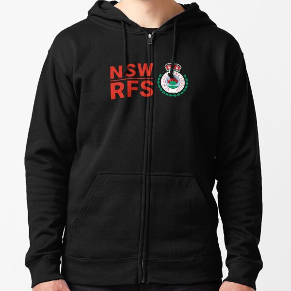 NSW RFS -- NEW SOUTH WALES RURAL FIRE SERVICE Zipped Hoodie