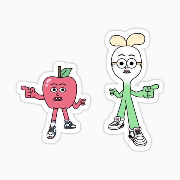 Apple and Onion Sticker