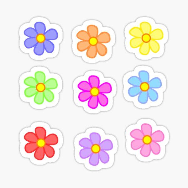 Y2K Inspired Flowers Sticker