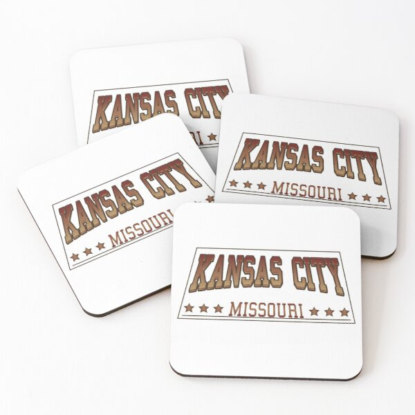 Kansas city Missouri sports football baseball fan Coasters (Set of 4)
