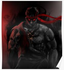 EVIL Ryu So badass Street Fighter Poster
