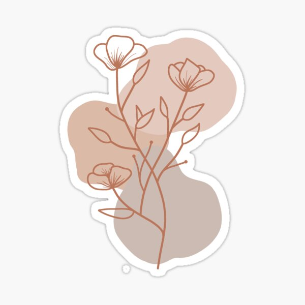 Neutral Aesthetic Stickers Redbubble Like regular feed posts, users are recommended to make the most of their hashtags when uploading using moving, animated gifs in place of the typical emoji sticker can also add a bit more aesthetic to your story. redbubble