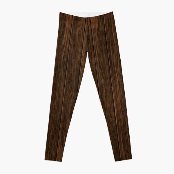 Dark Brown Wooden Planks Leggings