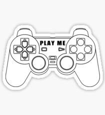 Video game - Play Me PS3 Black Sticker