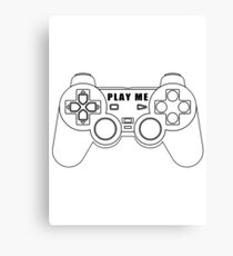 Video game - Play Me PS3 Black Canvas Print