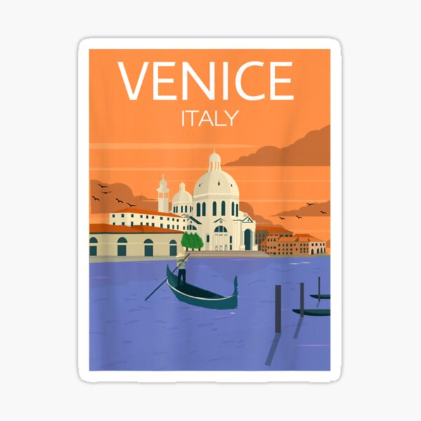 Venice Italy Italia Venezia Romantic Italy Souvenir Sticker