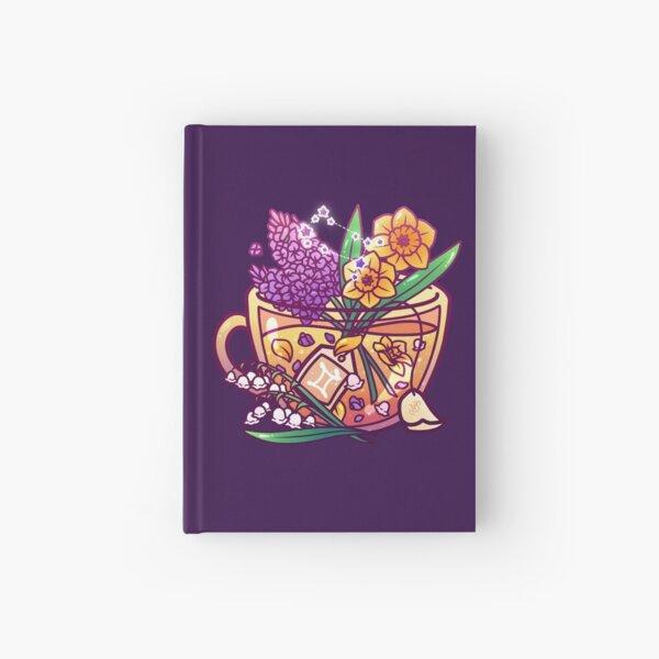 Gemini Zodiac Teacup Hardcover Journal