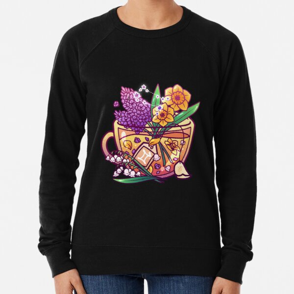 Gemini Zodiac Teacup Lightweight Sweatshirt