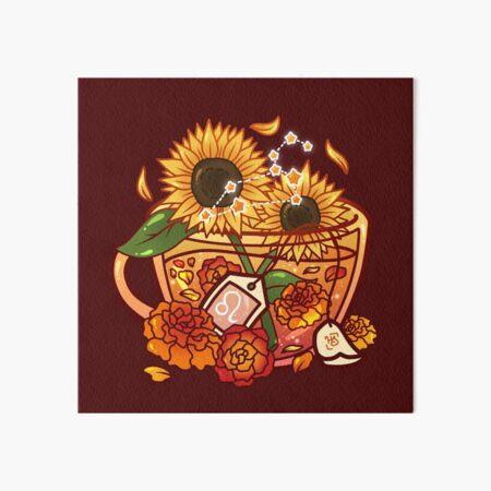 Leo Zodiac Teacup Art Board Print