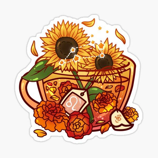 Leo Zodiac Teacup Sticker