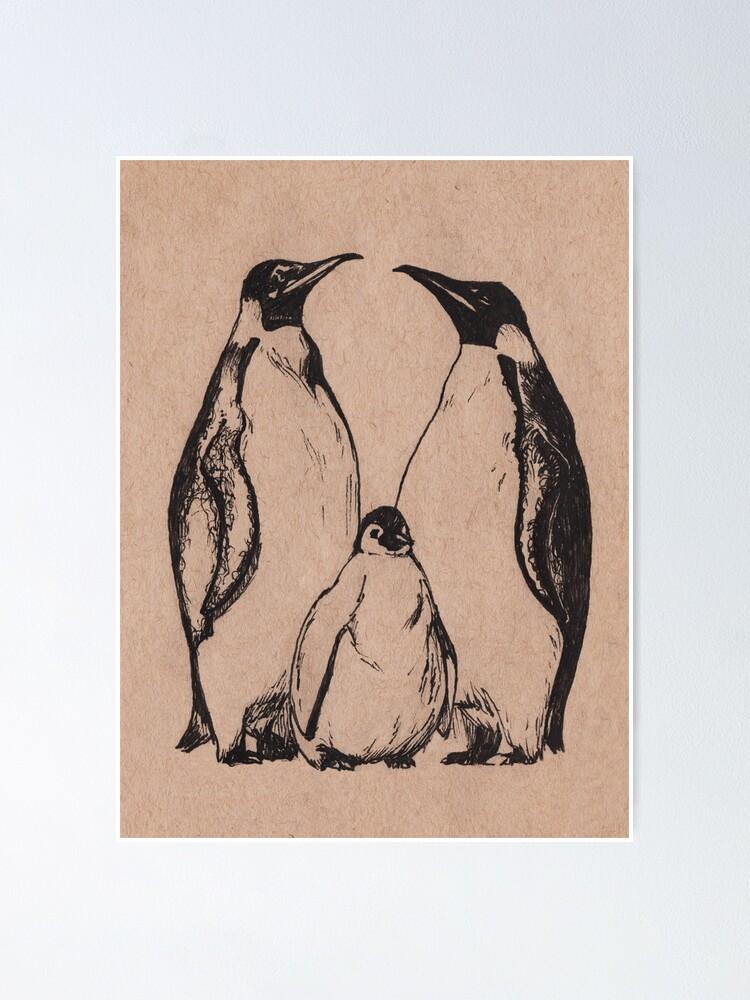 Alternate view of Penguins Poster