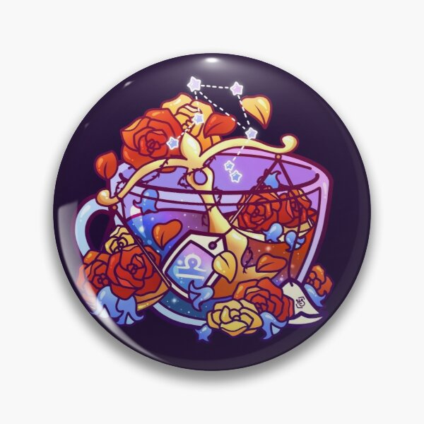 Libra Zodiac Teacup Pin