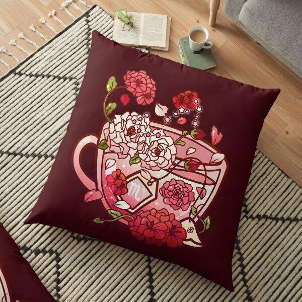 Scorpio Zodiac Teacup Floor Pillow