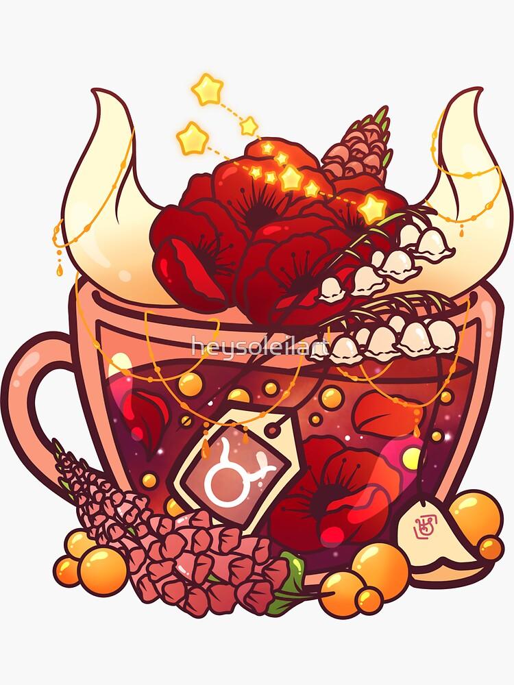 Taurus Zodiac Teacup by heysoleilart