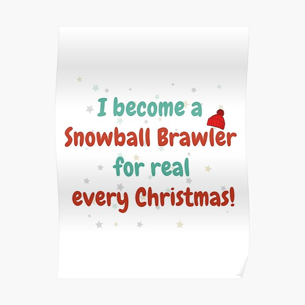 Drôle - Brawl Star Snowball Brawler Christmas Poster