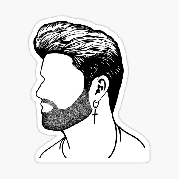Profil de George Michael Sticker