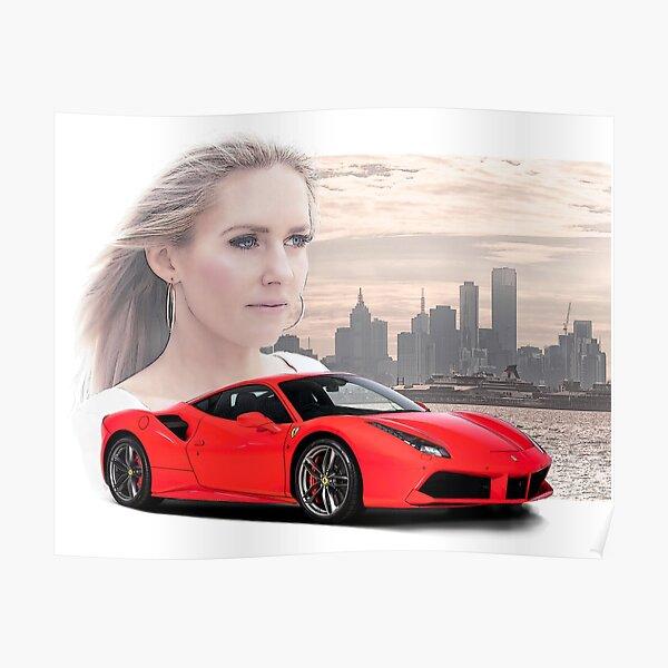Ferrari GTO Pinup Girl Racing Poster