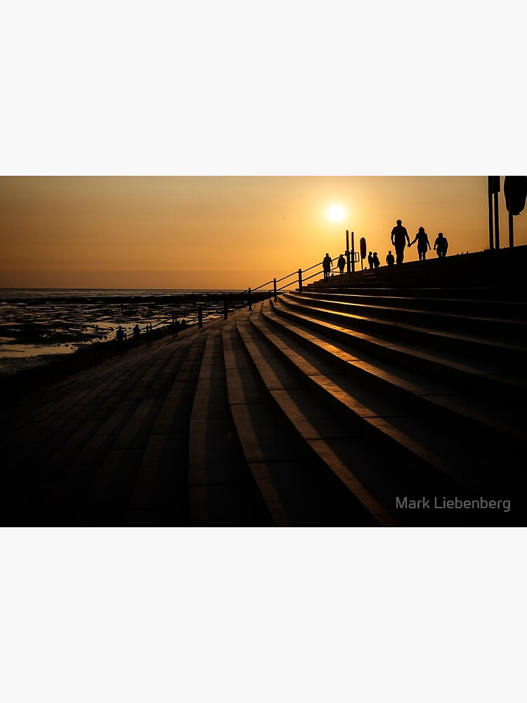 Walking during Sunset by mliebenberg