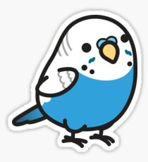 Chubby Blue Budgie Sticker