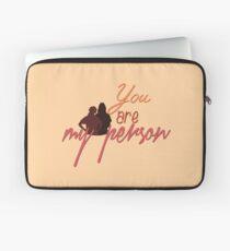 du bist meine Person Laptoptasche