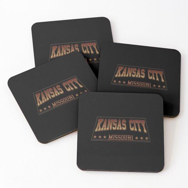 Kansas City Missouri football hockey baseball sports design Coasters (Set of 4)