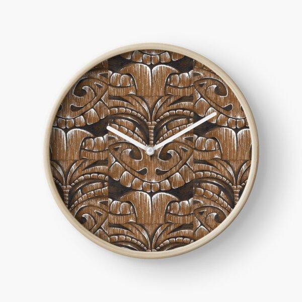 Maori Tiki Clock