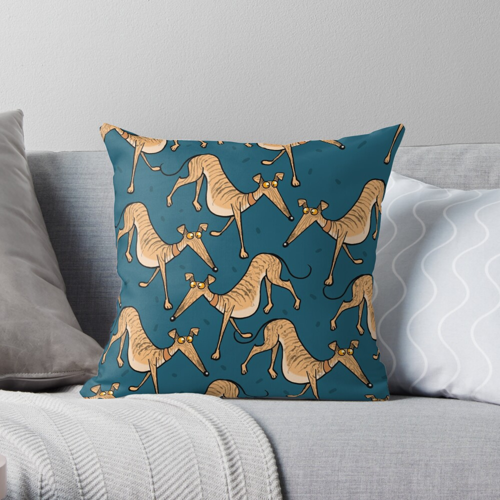 Brindle multi Throw Pillow