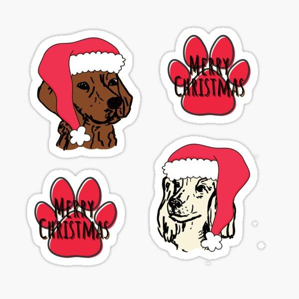 Merry Christmas dogs Sticker