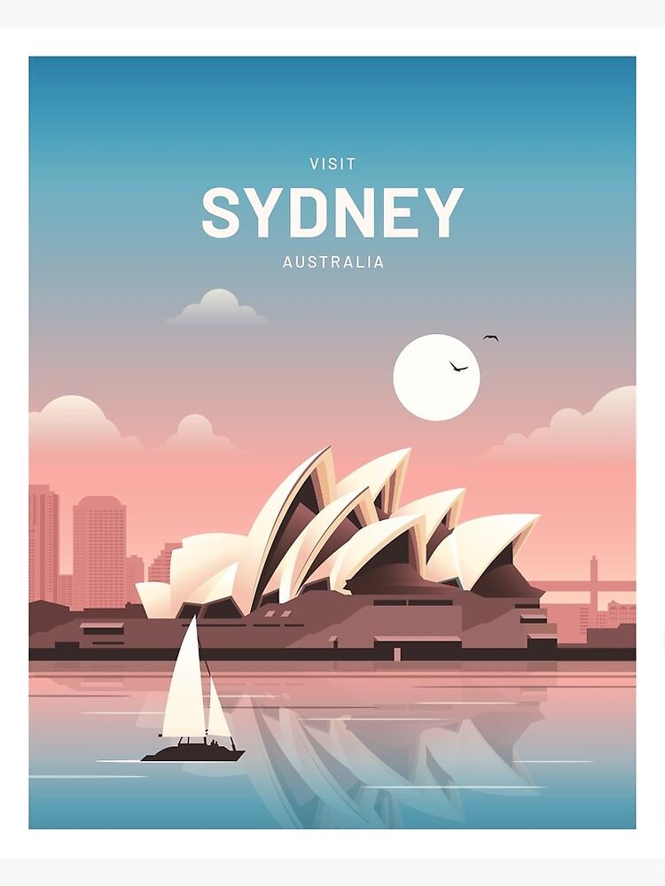 Sydney Australia Vintage Travel by corvintp