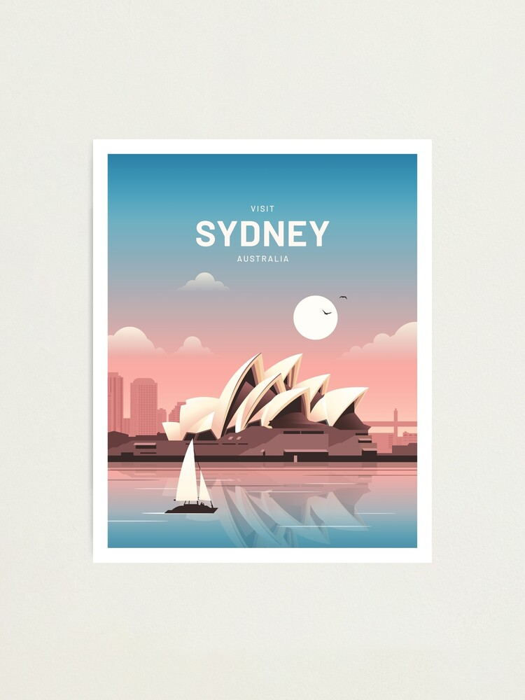 Alternate view of Sydney Australia Vintage Travel Photographic Print