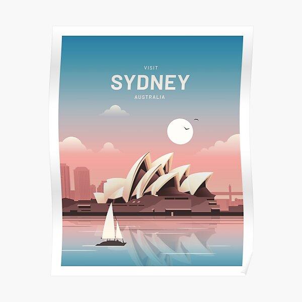 Sydney Australia Vintage Travel Poster
