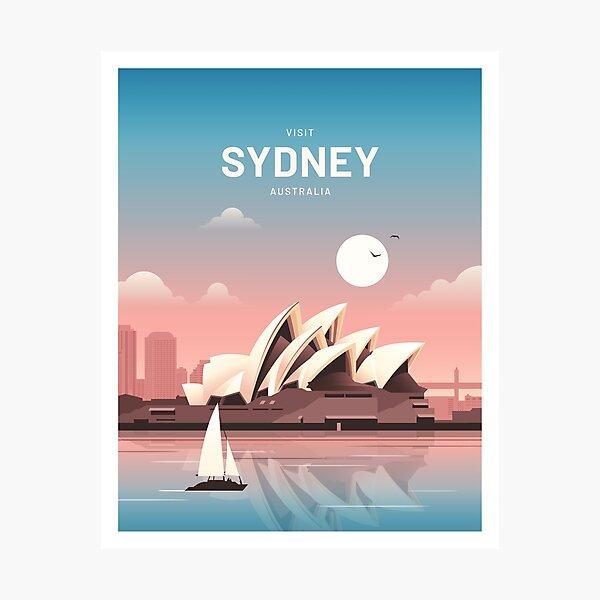 Sydney Australia Vintage Travel Photographic Print
