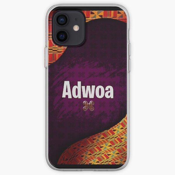 Ghana Flag Adwoa Ghanaian Name Adinkra Kente iPhone Soft Case