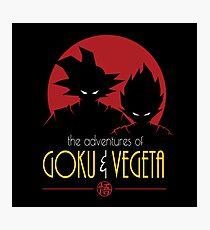 Adventures of Goku & Vegeta Photographic Print