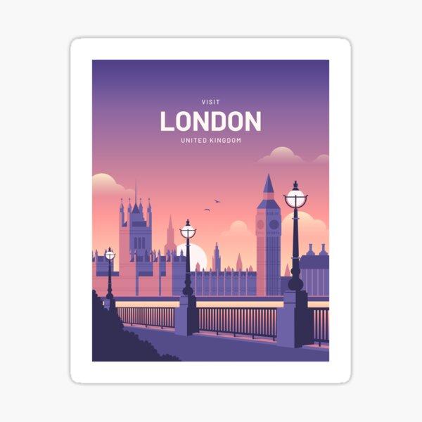 London United Kingon Vintage Travel Sticker