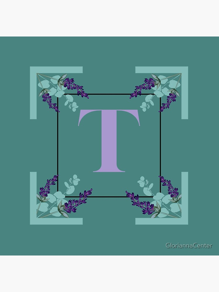 Eucalyptus lavender alphabet - letter T by GloriannaCenter