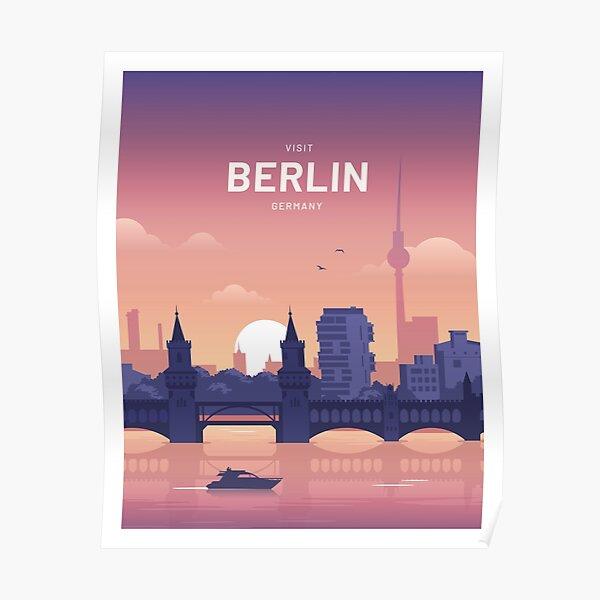 Berlin Germany Travel Vintage Poster